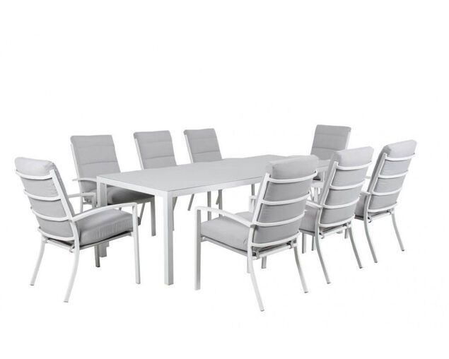Jette-Boston 9 Piece Dining (White), , hi-res image number null