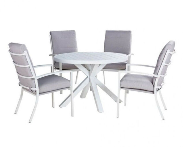 Jette 5 Piece Dining (White), , hi-res image number null