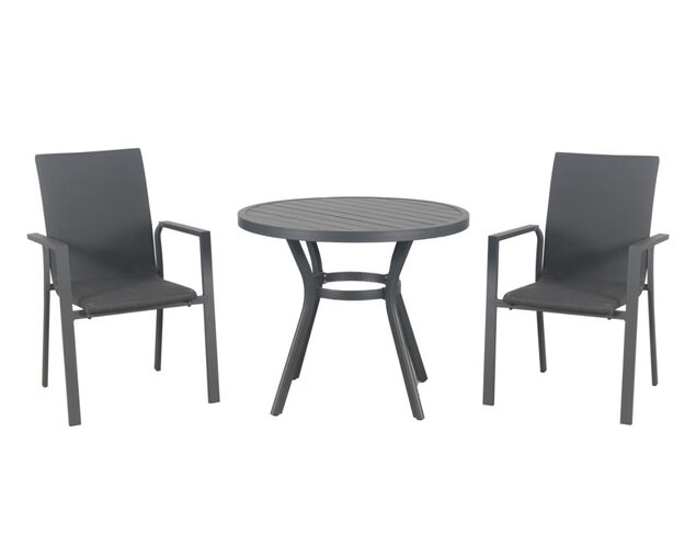 Jette Quick Dry 3 Piece Dining (Gunmetal Grey), , hi-res image number null