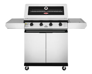 BeefEater 1200 Series - 4 Burner Stainless Steel BBQ With Side Burner