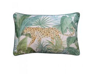 Jungle Leopard Teal Cushion 40 x 60cm