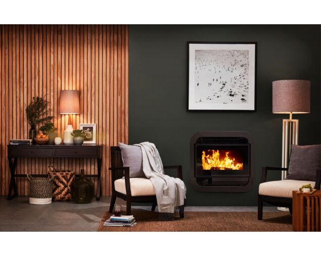Austwood Lachlan Insert Wood Heater, , hi-res image number null