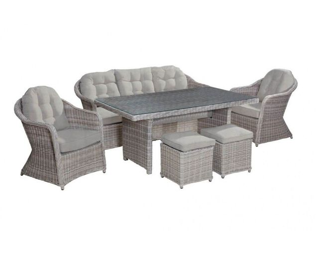 Valencia 6 Piece Low Dining Setting, , hi-res image number null
