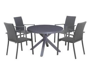Jette Round Dining Table 107.5cm (Gunmetal Grey)