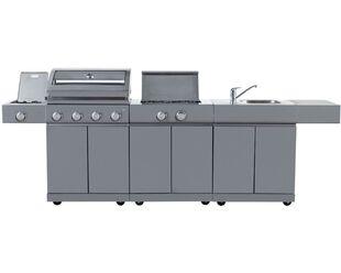 Alfresco Island Inc 4 Burner BBQ, Sink & Range
