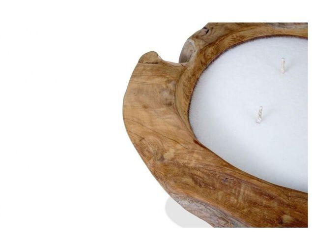 Teak Filled Candle 30cm, , hi-res image number null