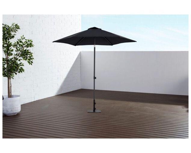 Sol 2.5m Market Umbrella Charcoal, , hi-res image number null