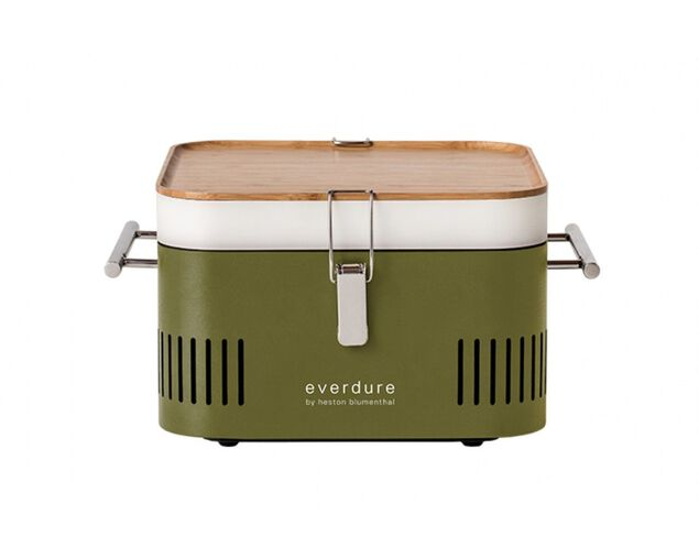 Everdure by Heston Blumenthal CUBE Charcoal Portable Barbeque - Khaki, , hi-res image number null