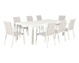 Jette Quick Dry 9 Piece Dining (White)