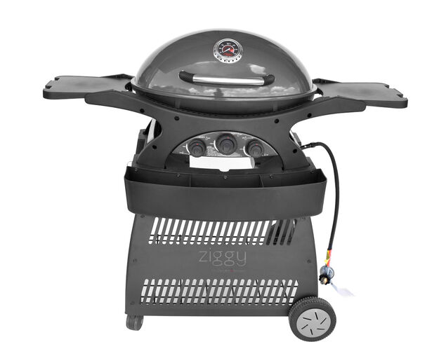 Ziggy by Ziegler & Brown Triple Grill LPG Classic on Cart, , hi-res image number null