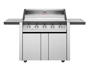 BeefEater 1600 Series - 5 Burner Stainless Steel BBQ With Side Burner (Silver)