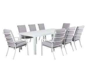Jette 9 Piece Dining (White)