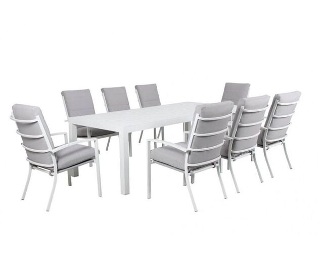 Jette 9 Piece Dining (White), , hi-res image number null