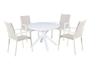 Jette Quick Dry 5 Piece Dining (White)