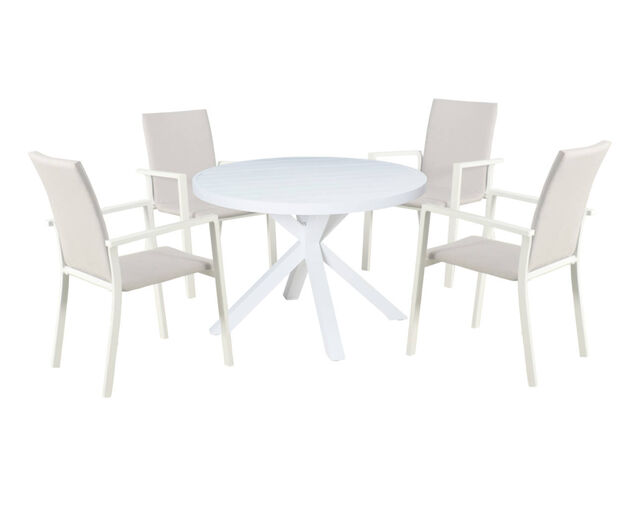 Jette Quick Dry 5 Piece Dining (White), , hi-res image number null