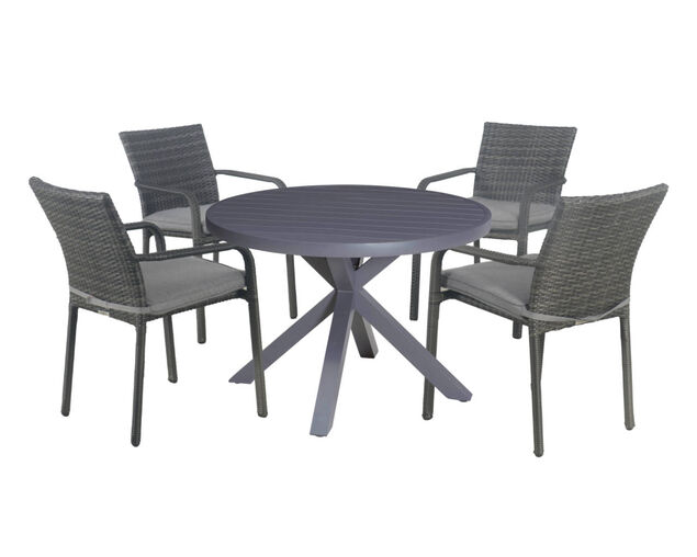 Larache-Jette 5 Piece Round Dining Setting, , hi-res image number null