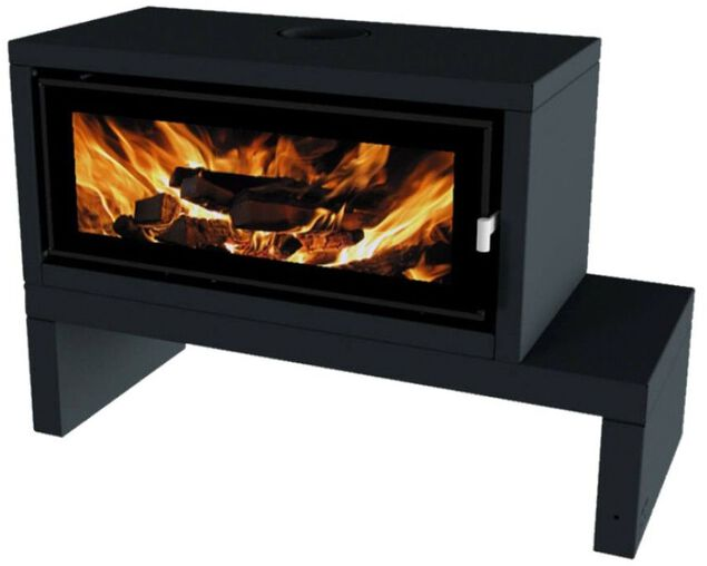 Norseman Aura Freestanding Wood Heater with Bench, , hi-res image number null