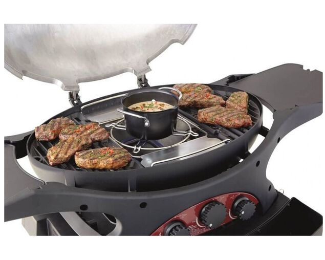 Ziggy by Ziegler & Brown Triple Grill Natural Gas Classic on Cart (Gunmetal Grey), Gunmetal Grey, hi-res image number null