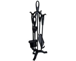 4 Piece Economy Fire Toolset with Stand
