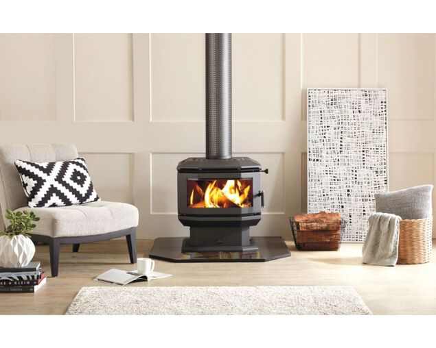 Saxon Walnut Freestanding Wood Heater, , hi-res image number null