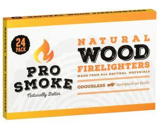 Pro Smoke Wooden Fire Lighters 24pk