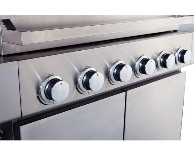 Alfresco 6 Burner BBQ with Side Burner, , hi-res image number null