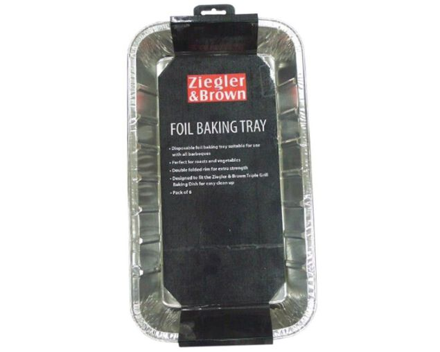Ziegler & Brown 6pk Foil Baking Tray, , hi-res image number null