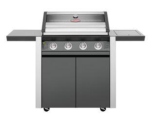 BeefEater 1600 Series - 4 Burner Stainless Steel BBQ With Side Burner (Dark)