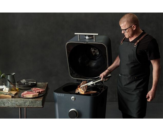 Everdure by Heston Blumenthal 4K Electric Ignition Charcoal Outdoor Oven - Graphite, , hi-res image number null