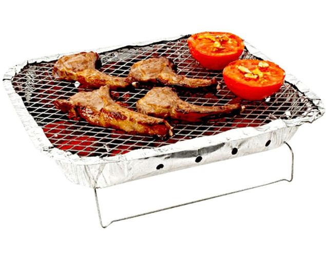 Disposable Charcoal BBQ with Wire Stand, , hi-res image number null