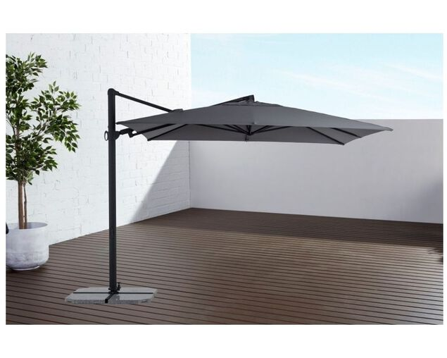 Naples 3x3m Square Cantilever Umbrella Charcoal, , hi-res image number null