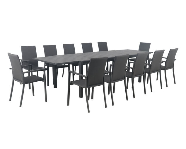 Jette Quick Dry 13 Piece Dining (Gunmetal Grey), , hi-res image number null