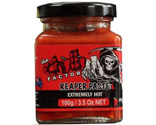 Reaper Paste: Extremely Hot Carolina Reaper Chillies
