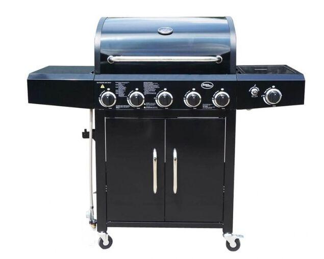 Downunder 5 Burner BBQ With Side Burner, , hi-res image number null