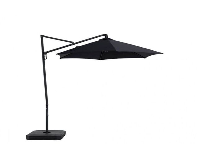 Miami Cantilever 3m Charcoal Umbrella and Base, , hi-res image number null
