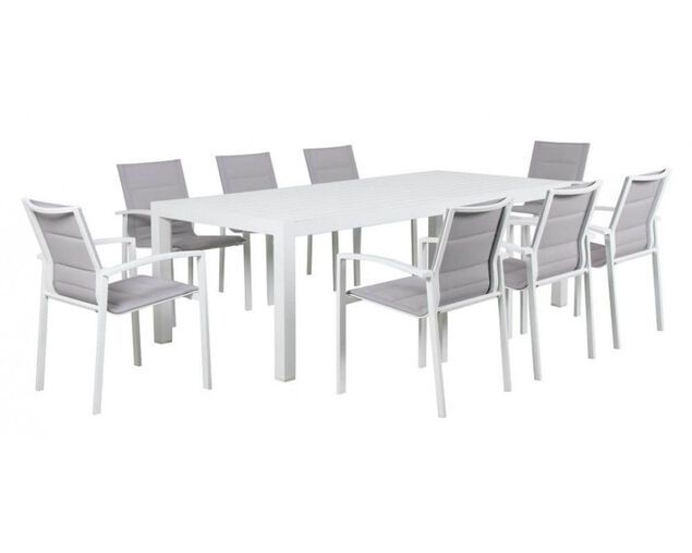 Boston-Jette 9 Piece Dining (White), , hi-res image number null
