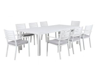 Boston-Jette 9 Piece Slatted Dining (White)