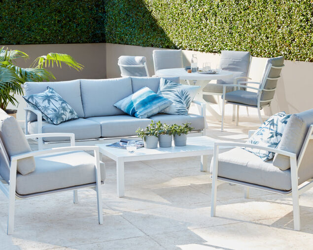 Jette 4 Piece Lounge Setting (White), , hi-res image number null