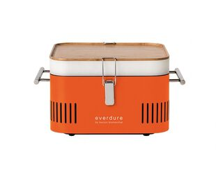 Everdure by Heston Blumenthal CUBE Charcoal Portable Barbeque - Orange