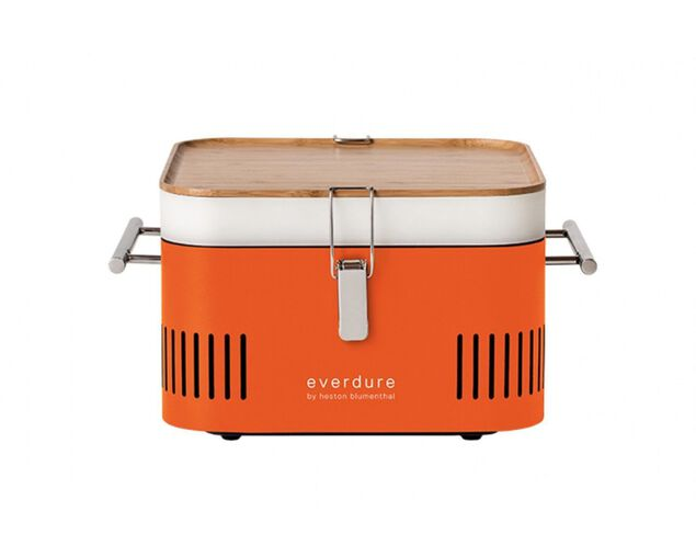 Everdure by Heston Blumenthal CUBE Charcoal Portable Barbeque - Orange, , hi-res image number null