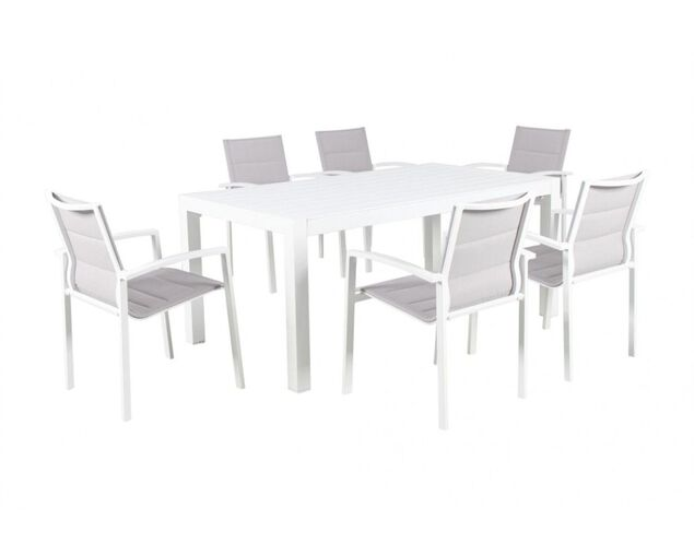 Boston-Jette 7 Piece Dining (White), , hi-res image number null
