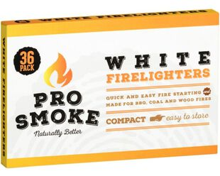 Pro Smoke White Fire Lighters 36pk