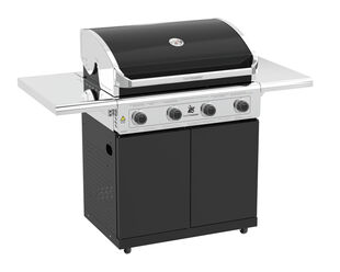 Beefmaster Classic 4 Burner BBQ on Classic Cart with Folding Shelves