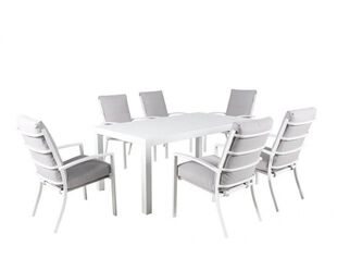 Jette 7 Piece Dining (White)