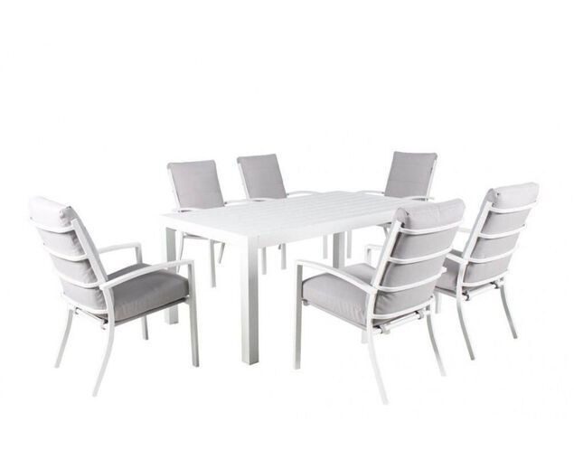 Jette 7 Piece Dining (White), , hi-res image number null
