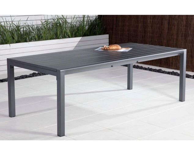 Gunmetal Grey Jette Dining Extension Table (220/340x104cm), , hi-res image number null