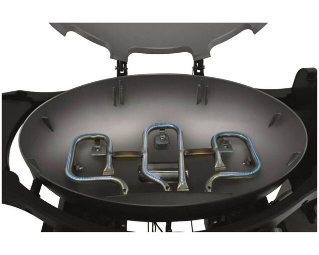 Ziggy by Ziegler & Brown Triple Grill Natural Gas Classic on Cart (Chilli Red), Chilli Red, hi-res image number null