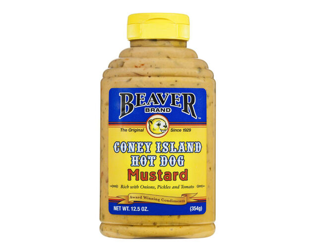 Beaver Coney Island Hot Dog Mustard 354g, , hi-res image number null
