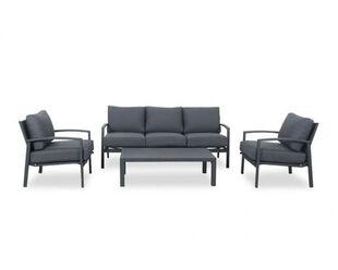 Jette 4 Piece Lounge Setting (Gunmetal Grey)