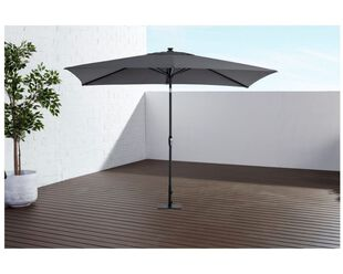 California 2 x 3m LED market umbrella Charcoal